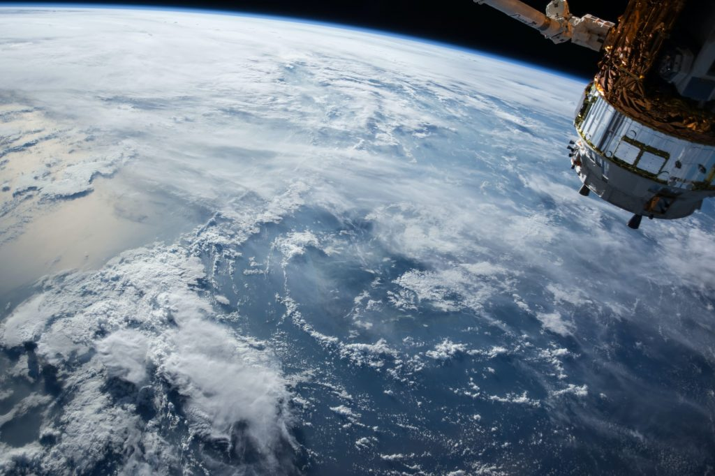 Nasa photo of earth with clouds